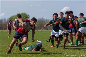 Dejando atras al 9 - Rugby - M16 - Areco Rugby Club - Virreyes Rugby Club