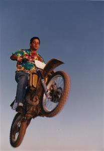 Saltando con Skelettor - Motorcycle racing -  - Pinamar (médanos) -