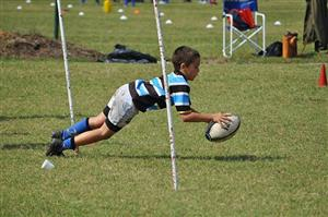Apoyando bajo los palos - Rugby -  - Liceo Naval -