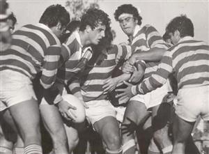 Fauve, Sebastian - Rugby - Listo para darla después de ganar el line - Asociación Alumni - 1988/Sep/11