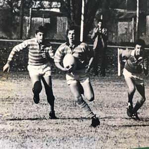 En los comienzos, jugando en Hindu - Rugby -  - Hindú Club -