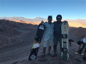 Javier y Martin, en Atacama - Sandboarding -  -  -