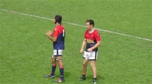 Jere y yo esperando a que arranque el partido - Rugby -  - Asociación Deportiva Francesa -