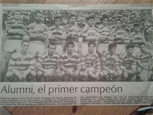 Fauve, Sebastian - memorabilia -  - Asociación Alumni - 1987/Oct/05