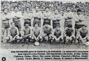 Equipo de Tucuman que vencio a los Pumas - Rugby -  - Seleccionado de Tucuman -