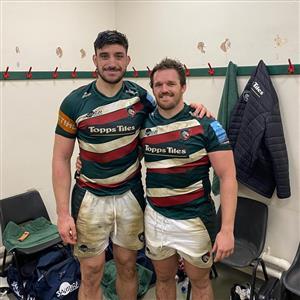 Dos amigos jugando en Leicester - Rugby -  - Leicester Football Club -