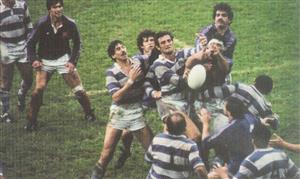 Branca, Eliseo Nicolas - Rugby - Line disputado - Selección Argentina de Rugby - 1985/Oct/10