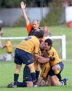 Festejo de Try - Rugby -  - La Plata Rugby Club -