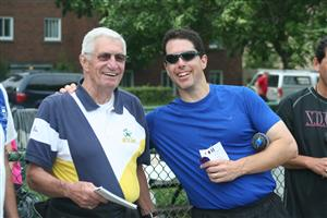 With Carl Anderson - Running -  - NDG Roadrunners -