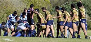Los forwards esperando en linea - Rugby -  - San Isidro Club - Club Regatas de Bella Vista