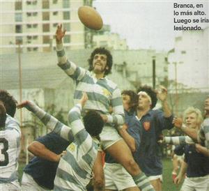 Branca, Eliseo Nicolas - Rugby - Line, cuando no se podia levantar al saltador - Selección Argentina de Rugby - 1984/Oct/10