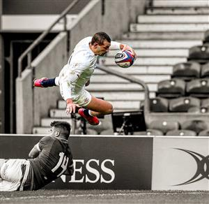 Flying into the ingoal - Rugby -  - England national rugby union team -