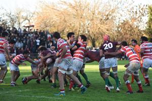 Varios focos de accion en una misma foto - Rugby -  - Newman - Asociación Alumni