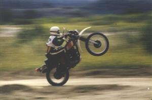 En una XL 500 '1979 - Motorcycle racing -  -  -