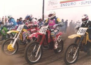 Largada del Enduro Supercross Pinamar '92 - Motorcycle racing -  - Pinamar (médanos) -
