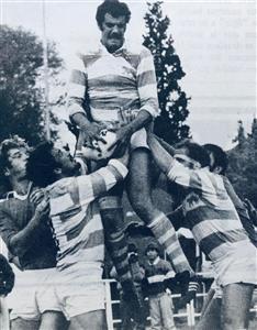 Branca, Eliseo Nicolas - Rugby - Chapa Branca, ganando el line - Selección Argentina de Rugby - 1981/Jul/07