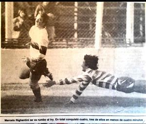 Righentini, Marcelo - Rugby - Contra San Juan, campeonato Argentino -  - 1989/Oct/15