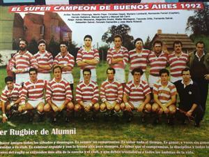 Camardon, Gonzalo - Rugby - El super campeón de Buenos Aires 1992 - Asociación Alumni - 1992/Oct/20