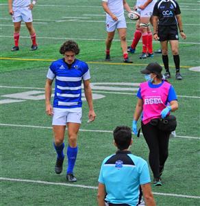Sport Photo Book by Juan Alchourron - Rugby - Premier blessé - Université de Montréal - 2021/Sep/11