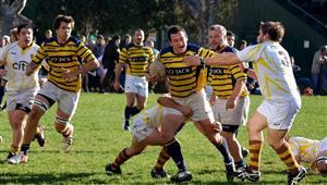 Tackle de dudosa intencion - Rugby -  - Club Regatas de Bella Vista - Belgrano Athletic Club